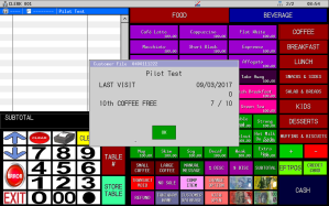 Uniwell Lynx provides extensive Customer Management features for Adelaide cafes and restaurants